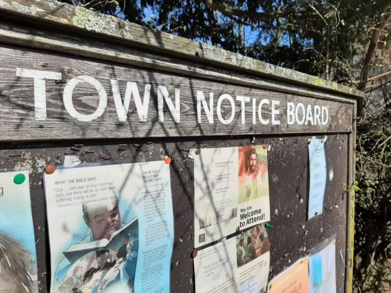 Southam Town Council notice board