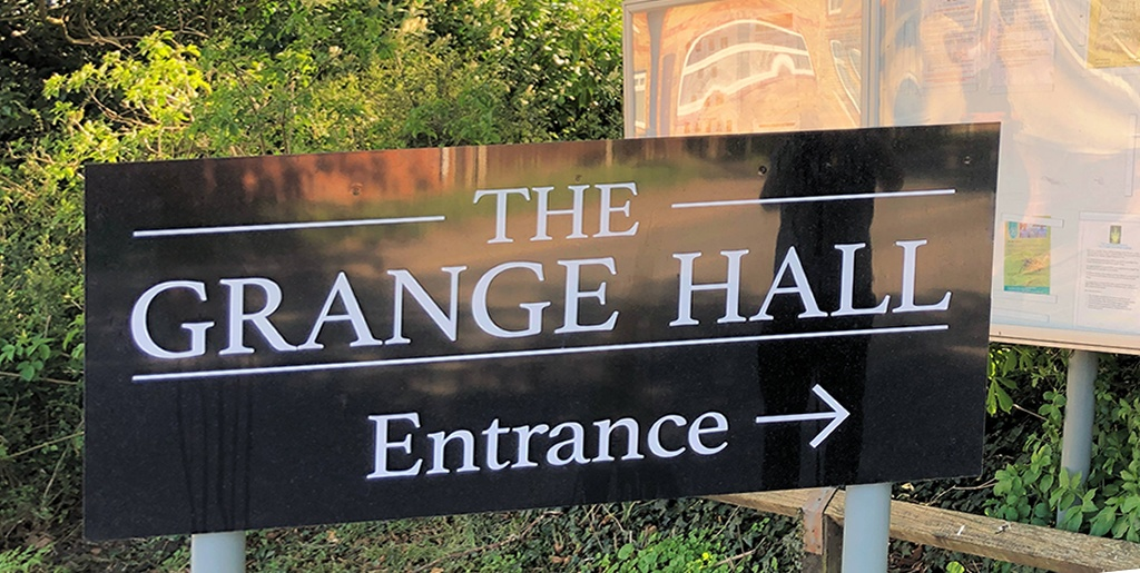 The Grange Southam Town Council sign